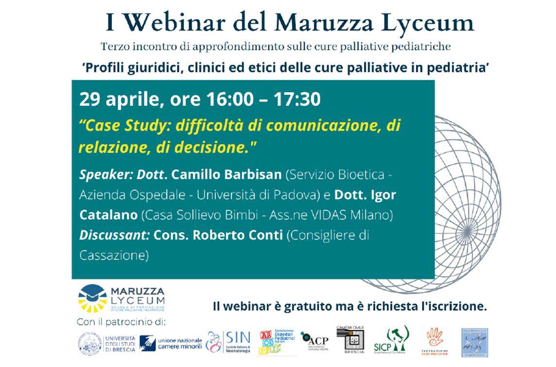 locandina webinar maruzza lyceum III 24 aprile 2021